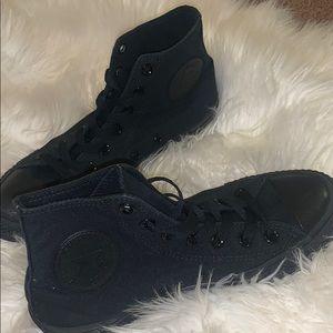 All black Chuck Taylor's